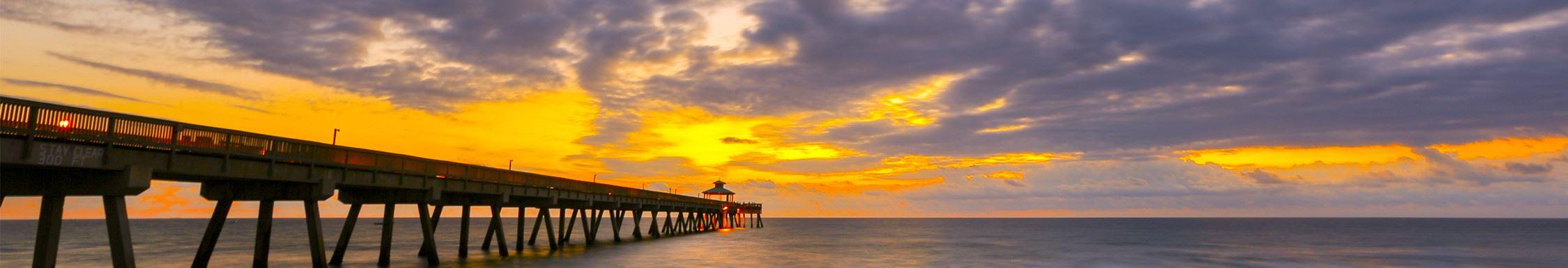 deerfield beach fl official website sunset over pier
