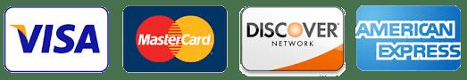 Visa Mastercard Discover and American Express Logos