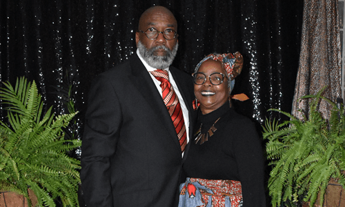 Black Heritage Banquet couple smiling
