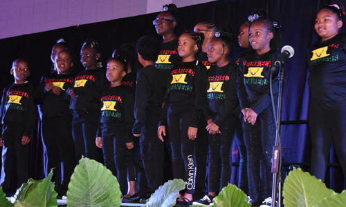 Black Heritage banquet kids performance